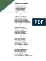 POEMA LAS SIETE PALABRAS - ORLANDO CASTELLANOS