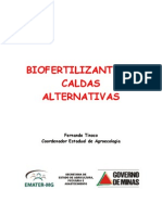 BIOFERTILIZANTES (com carvão) E CALDAS ALTERNATIVAS