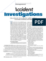 Safety Article - Accident Investigations