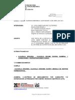 Acta Informe de Supervicion Marzo 2021