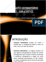 ESTIMATÓRIO DÉBORA
