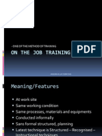 On & Off Job Training