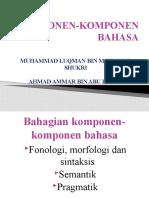 KOMPONEN-KOMPONEN BAHASA