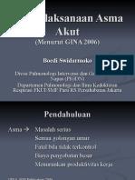 Penatalaksanaan Asma Akut GINA 2006