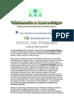 Nota de Prensa UDC Urgente