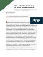 2El Observatorio Latinoamericano de la Innovación en la Gestión Pública Local