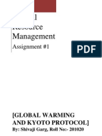 assignment of Natural resource management