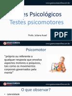 t p testes psicomotores