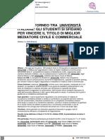A Milano il Campionato Italiano della Mediazione - Milanooggi.it, 14 ottobre 2021