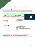 Ficha de Avaliação Módulo XVI – Documentação Comercial