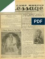 Camp Murphy Message, December 24, 1943