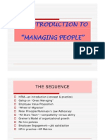 An Introduction to Managing People