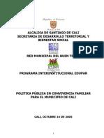 POLITICA PUBLICA DE CONVIVENCIA Y FAMILIA