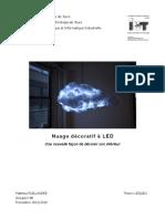 Nuage décoratif à LED