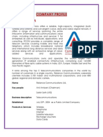 Company Profile- Reliance communication