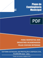 Plano de Contingencia Municipal Chuvas Intensas Ttico Operacional Revisado Em 22-12-2020