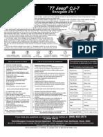 Jeep CJ7 Placement