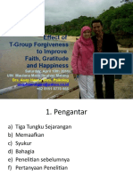 Effect of T-Group Forgiveness on Enhancement of Faith, Gratitude and Happiness