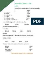 Libro de matemática 4