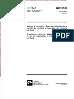 NM137 - Argamassa e concreto - Água para amassamento e cura de argamassa e concreto de cimento portland