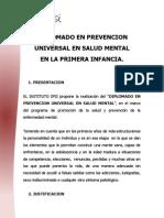 Diplomado en Prevencion Universal en Salud Mental en la Primera Infancia.