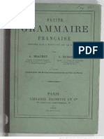 Brachet А. Dussouchet J. - Petite Grammaire Française Fondée Sur l'Histoire de La Langue - 1875