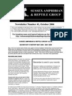 Newts Letter 41 Autumn 2006