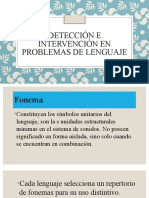 Detección e Intervención en Problemas de Lenguaje