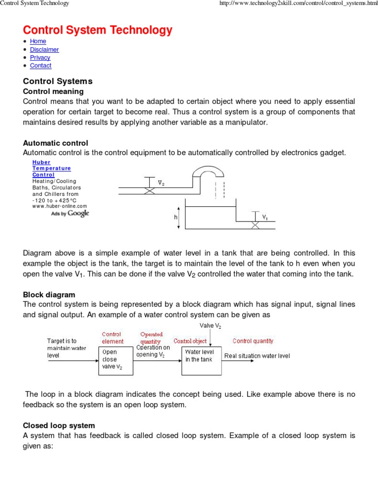 Control system technology control system feedback sciox Image collections