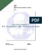Actividad I Estado de Guatemala