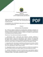 LEI 12.288 - Estatuto da Igualdade Racial_ESPANHOL