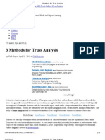3 Methods for Truss Analysis