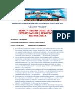 Examen de Investigación Tema 7 Laboratorio