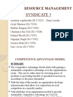 HRM Models - Syndicate 3