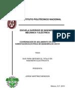 COORDINACIÓN DE AISLAMIENTO EN UNA SUBESTACIÓN ELÉCTRICA DE MANIOBRA DE 230 KV