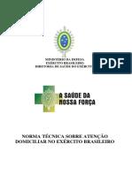 Norma Técnica sobre Atenção Domiciliar no Exército Brasileiro