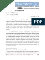 """Mena López, Maricel.  2015. """"Género y estudios de la religión"""". 1199-1205"""