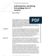 Transforming lives introducing critical pedagogy into ELT
