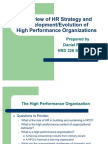 High Performance Organizations