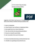 The Easter Bunny Enjoys Spring Recitation