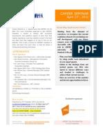 [Career Seminar] Agenda