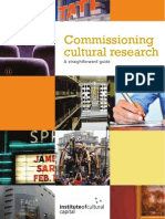 Commissioning Cultural Research