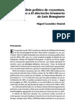 El método de análisis político de coyuntura y la cuestión del Estado capitalista en El Dieciocho Brumario de Luis Bonaparte (de Karl Marx) - Autor