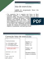 Resolução dos modelos - Lista de exercício PO