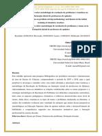 Análise das publicações sobre metodologia de resolução de problemas e temáticas na formação inicial de professores de química