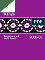 Kenya Demographics and Health Survey Report 2008-09