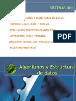 Algoritmos y Estructura de datos