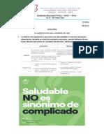TUTORIA  FICHA N°08   LA ALIMENTACION sANA ES SINONIMO DE VIDA      06-10-21