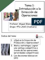 Tema 1 Introduccin a la Direccin de Operaciones