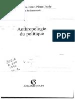 ABÉLÈS, Marc e JEUDY, Henri P - Anthropologie du politique